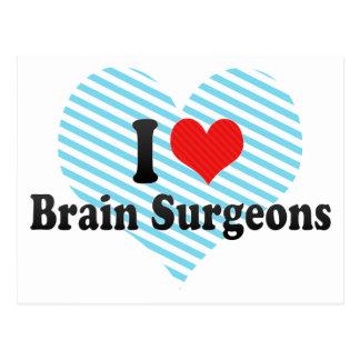 Amo a cirujanos de cerebro postales