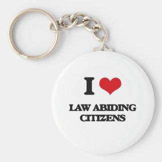 Amo a ciudadanos respetuosos de las leyes llavero
