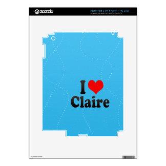 Amo a Claire iPad 3 Skins