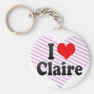 Amo a Claire Llaveros Personalizados