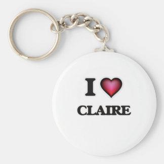 Amo a Claire Llavero Redondo Tipo Pin