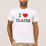 Amo a Claire Playera