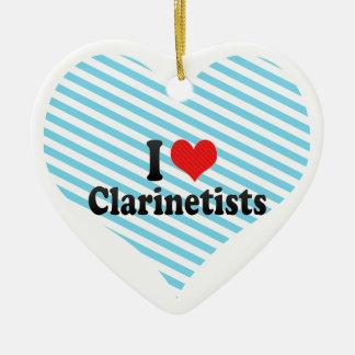 Amo a Clarinetists Ornamente De Reyes