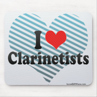 Amo a Clarinetists Alfombrilla De Ratón