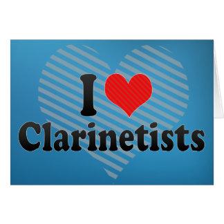 Amo a Clarinetists Felicitaciones