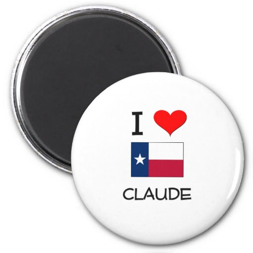 Amo a Claude Tejas Imán Redondo 5 Cm
