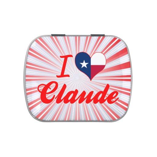 Amo a Claude, Tejas Jarrones De Caramelos