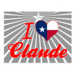 Amo a Claude, Tejas Tarjeta Postal