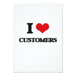 Amo a clientes invitación 12,7 x 17,8 cm