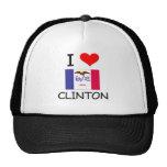 Amo a CLINTON Iowa Gorros Bordados