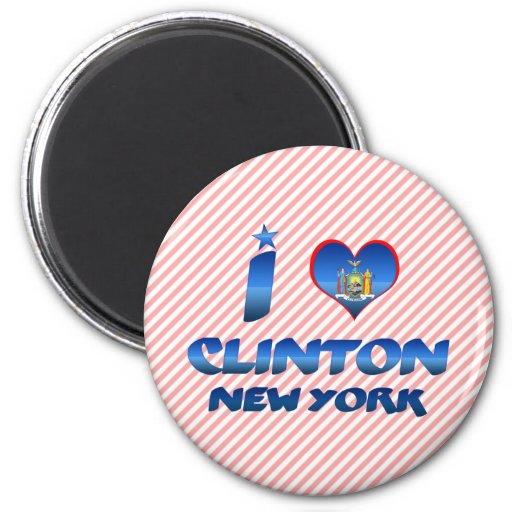 Amo a Clinton, Nueva York Iman Para Frigorífico