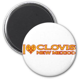 Amo a Clovis, nanómetro Imán Redondo 5 Cm