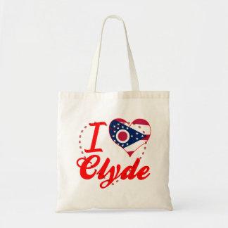 Amo a Clyde, Ohio Bolsas Lienzo