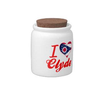 Amo a Clyde, Ohio Platos Para Caramelos