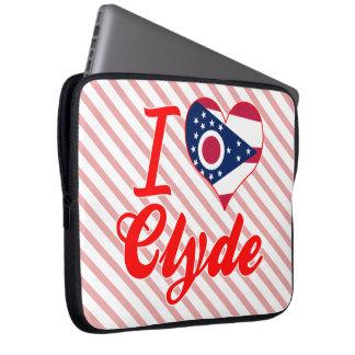Amo a Clyde, Ohio Funda Portátil