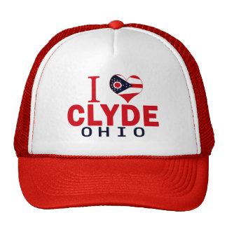 Amo a Clyde, Ohio Gorros Bordados
