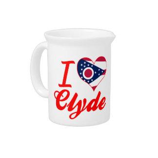 Amo a Clyde, Ohio Jarras Para Bebida