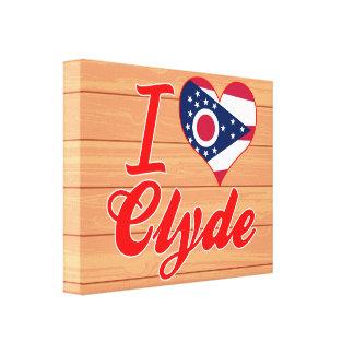 Amo a Clyde, Ohio Lona Estirada Galerias