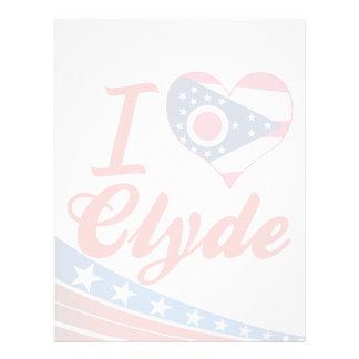 Amo a Clyde, Ohio Membretes Personalizados