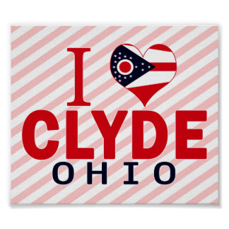 Amo a Clyde, Ohio Impresiones
