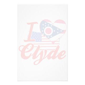Amo a Clyde, Ohio Papeleria De Diseño