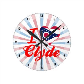 Amo a Clyde, Ohio Relojes De Pared