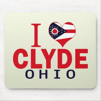 Amo a Clyde, Ohio Tapetes De Ratón