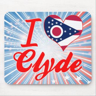 Amo a Clyde, Ohio Alfombrillas De Ratones