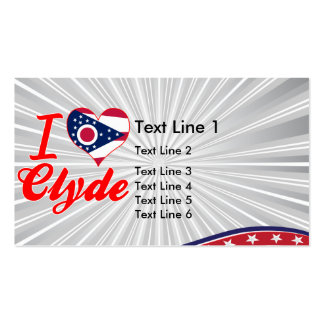 Amo a Clyde, Ohio Tarjetas De Visita