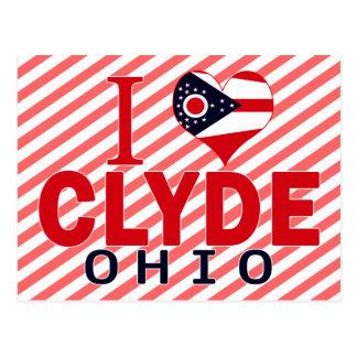 Amo a Clyde, Ohio Tarjeta Postal