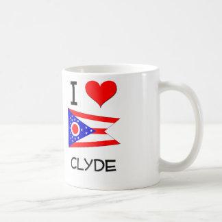 Amo a Clyde Ohio Taza