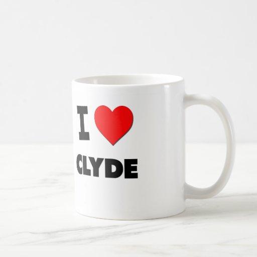 Amo a Clyde Tazas