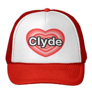 Amo a Clyde. Te amo Clyde. Corazón Gorras