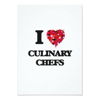 """Amo a cocineros culinarios invitación 5"""" x 7"""""""