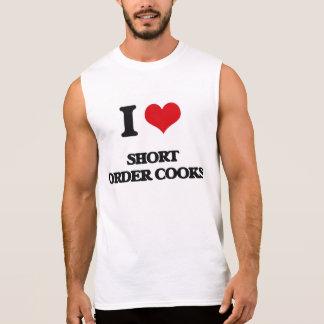 Amo a cocineros de breve plazo camisetas sin mangas
