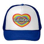 Amo a Colleen: corazón del arco iris Gorras