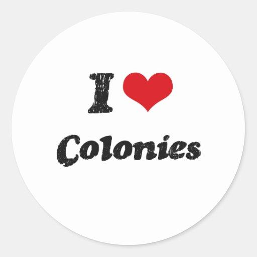 Amo a colonias pegatina redonda