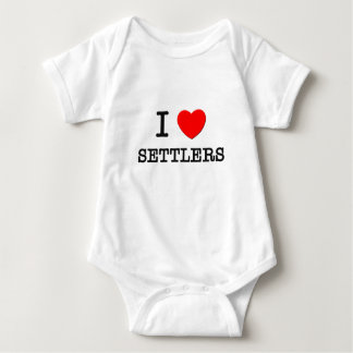 Amo a colonos body para bebé