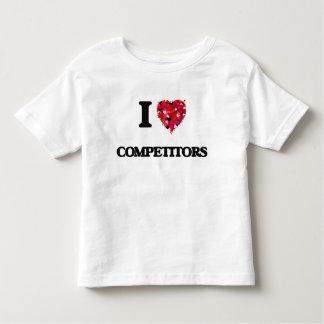 Amo a competidores tee shirts