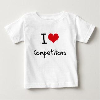 Amo a competidores camisetas