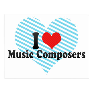 Amo a compositores de la música tarjetas postales