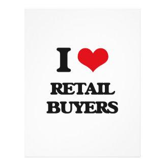 Amo a compradores al por menor flyer personalizado