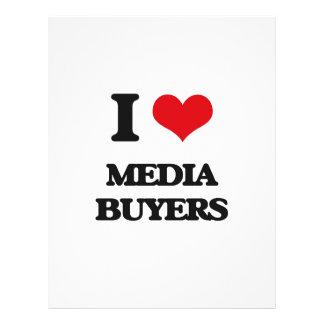 Amo a compradores de los medios flyer personalizado