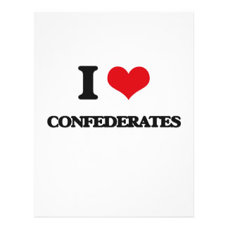 Amo a confederados tarjetas informativas