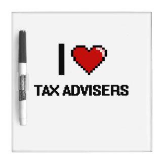 Amo a consejeros de impuesto pizarra