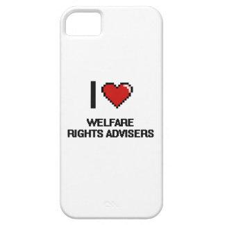 Amo a consejeros de las derechas del bienestar iPhone 5 protectores