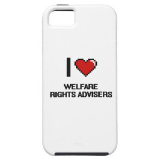 Amo a consejeros de las derechas del bienestar iPhone 5 cobertura