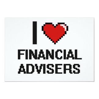 Amo a consejeros financieros invitación 12,7 x 17,8 cm