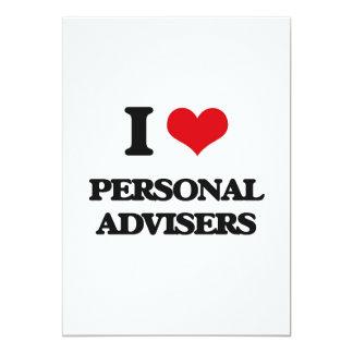 Amo a consejeros personales invitación 12,7 x 17,8 cm