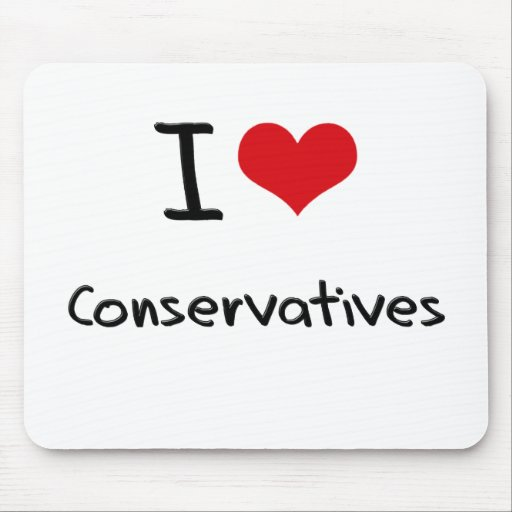 Amo a conservadores alfombrillas de ratones